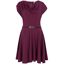 Buy Closet Cowl Neck Skater Dress, Magenta Online at johnlewis.com