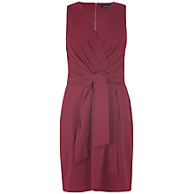 Buy Closet Tie Front Dress, Burgundy Online at johnlewis.com