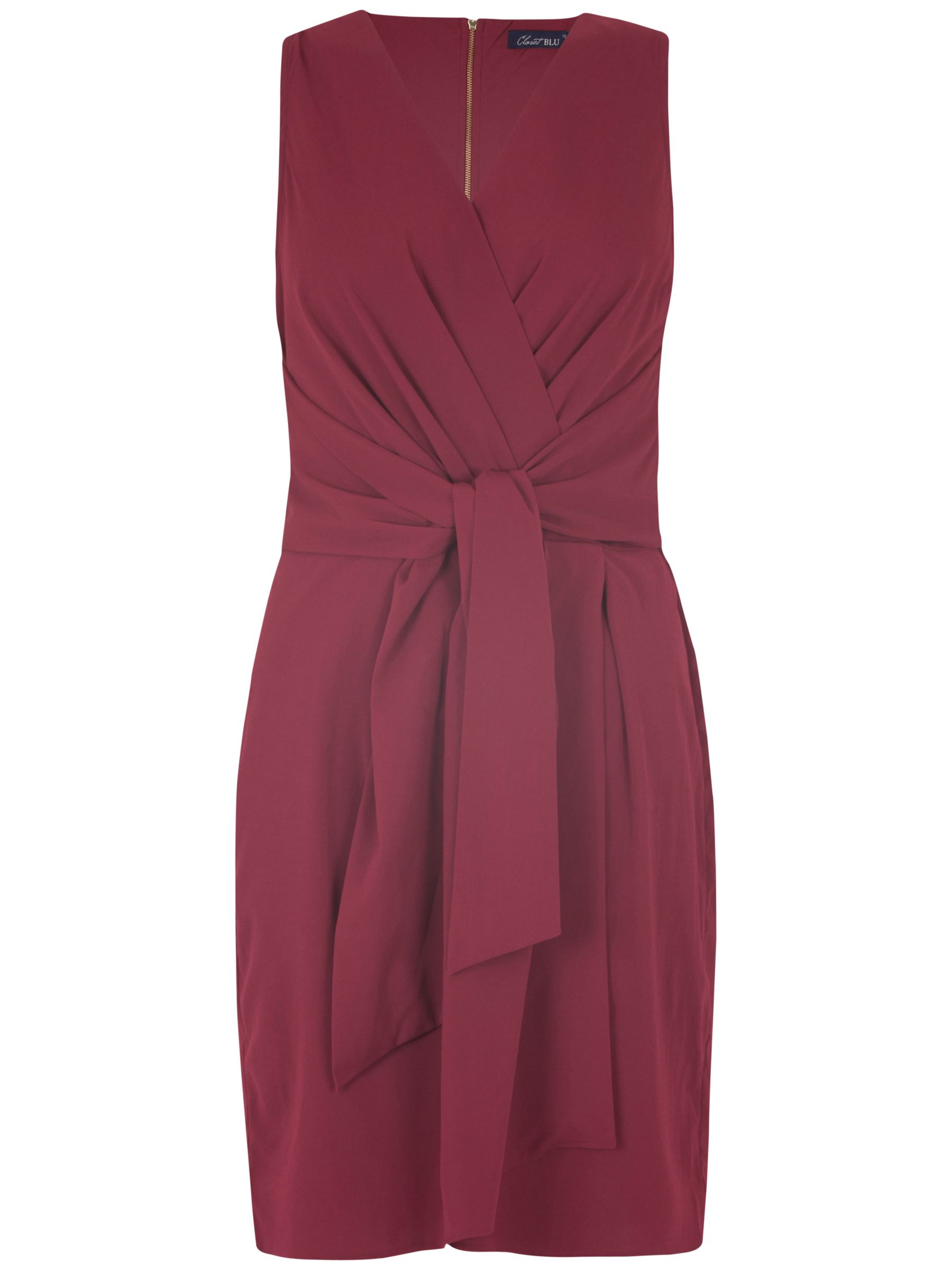 closet tie front dress burgundy, closet, tie, front, dress, burgundy, 14|10|12|16, clearance, womenswear offers, womens dresses offers, women, inactive womenswear, new reductions, womens dresses, special offers, 1793061