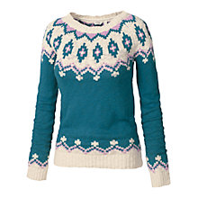 Buy Fat Face Florrie Fairisle Jumper, Peacock Online at johnlewis.com