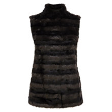 Buy Coast Prospect Faux Fur Gilet, Black Online at johnlewis.com