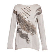 Buy Betty Barclay Lurex Long Jumper, Taupe Online at johnlewis.com