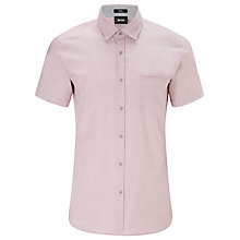 Buy BOSS Rylan Short Sleeve Shirt, Washed Red Online at johnlewis.com