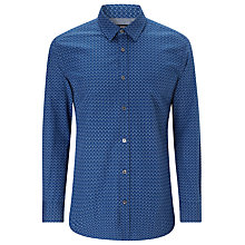Buy BOSS Ronny32 Diamond Print Shirt, Dark Blue Online at johnlewis.com