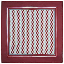 Buy BOSS Circle Print Pocket Square, Burgundy Online at johnlewis.com