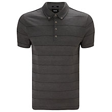 Buy BOSS Black Arpino 49 Polo Shirt, Charcoal Online at johnlewis.com