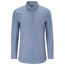 Buy BOSS Mason4 Geo Print Shirt, Blue Online at johnlewis.com