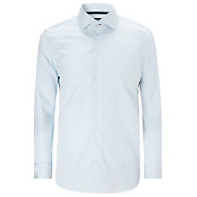 Buy BOSS Gregory Stripe Shirt, Blue/White Online at johnlewis.com