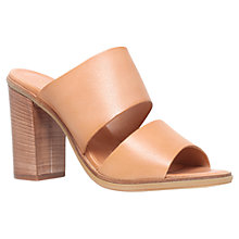 Buy Carvela Krow Leather Block Heeled Sandals, Tan Online at johnlewis.com