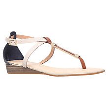 Buy Carvela Kruise Leather Low Wedge Sandals, Tan Online at johnlewis.com