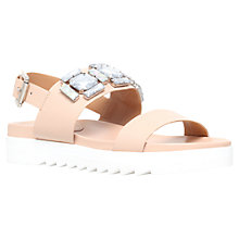 Buy Carvela Kusp Embellished Cleated Sole Sandals, Nude Leather Online at johnlewis.com