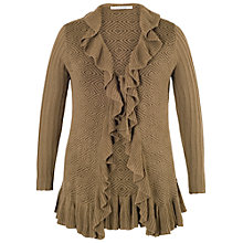 Buy Chesca Frill Edge Jacquard Tie Cardigan Online at johnlewis.com