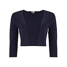 Buy Phase Eight Salma Structured Knit Jacket, Navy Online at johnlewis.com