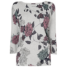Buy Phase Eight Raina Print Knit Top, Grey Marl Online at johnlewis.com