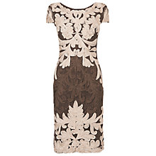 Buy Phase Eight Venizia Tapework Dress, Praline/Cream Online at johnlewis.com