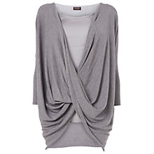 Buy Phase Eight Sheena Twist Knit Jumper, Silver Online at johnlewis.com
