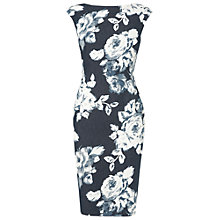 Buy Phase Eight Evelyn Rose Dress, Denim/Ivory Online at johnlewis.com