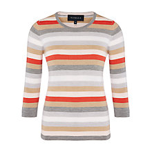 Buy Viyella Merino Stripe Jumper, Grey Marl Online at johnlewis.com