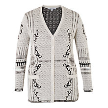 Buy Chesca Jacquard Knitted Cardigan, Ivory Online at johnlewis.com