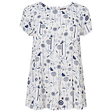 Buy Phase Eight Dandelion Blouse, Ivory / Cobalt Online at johnlewis.com