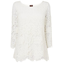Buy Phase Eight Shelley Crochet Lace Blouse, Ivory Online at johnlewis.com
