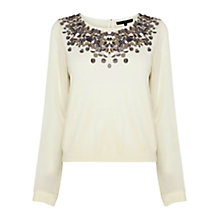 Buy Coast Aveling Knit Top, Ivory Online at johnlewis.com