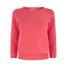 Buy Oasis Moss Stitch Jumper, Coral Online at johnlewis.com