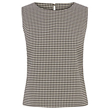 Buy Oasis Puppytooth Shell Top, Black / White Online at johnlewis.com
