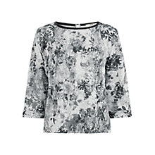 Buy Oasis Rose Print Sweater, Mid Grey Online at johnlewis.com