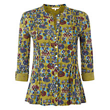 Buy White Stuff Gypsy Floral Shirt, Green Pansy Online at johnlewis.com