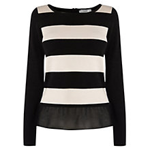 Buy Coast Estar Striped Knit Top, Black Online at johnlewis.com