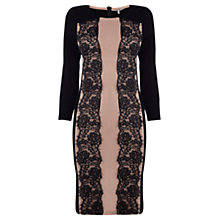 Buy Coast Maz Knit Dress, Taupe/Black Online at johnlewis.com