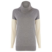 Buy Oasis Colour Block Jumper, Grey/Multi Online at johnlewis.com