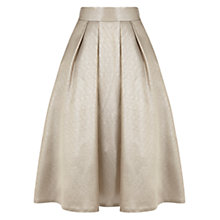 Buy Coast Penny Skirt, Gold Online at johnlewis.com