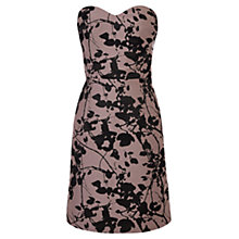 Buy Coast Mirah Jacquard Dress, Dusty Pink/Black Online at johnlewis.com