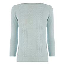 Buy Oasis Cotton Cable Cute Jumper Online at johnlewis.com