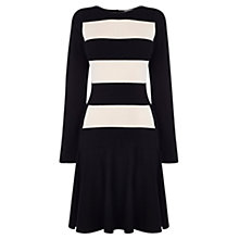 Buy Coast Irma Knit Dress, Black/White Online at johnlewis.com