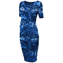 Buy Isabella Oliver Marban Patterned Maternity Dress, Blue Online at johnlewis.com