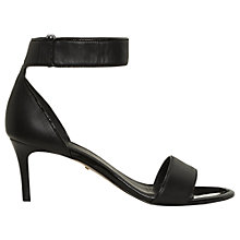 Buy Whistles Cadia Leather Sandals, Black Online at johnlewis.com