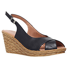 Buy Carvela Comfort Sky Leather Open Toe Wedges Online at johnlewis.com