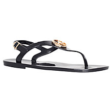Buy KG by Kurt Geiger Mystie Jelly Sandals, Black Online at johnlewis.com
