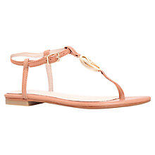 Buy KG by Kurt Geiger Million Toe Thong Sandals, Tan Online at johnlewis.com
