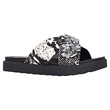 Buy KG by Kurt Geiger Minted Sandals, Black/Beige Pony Online at johnlewis.com