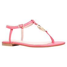 Buy KG by Kurt Geiger Million Toe Thong Sandals, Pink Online at johnlewis.com