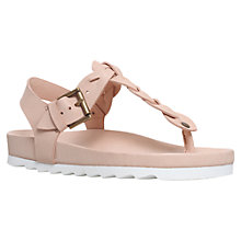 Buy KG by Kurt Geiger Nirvana Cleated Sole Sandals, Nude Online at johnlewis.com
