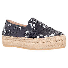 Buy KG by Kurt Geiger Milo Sequin Espadrille Sandals Online at johnlewis.com
