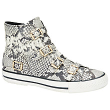 Buy Ash Virginia Snake Embossed Buckle Leather Trainers, Print Online at johnlewis.com