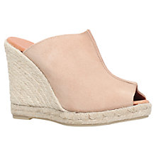 Buy KG by Kurt Geiger Muffin Suede Wedge Heeled Espadrille Sandals Online at johnlewis.com