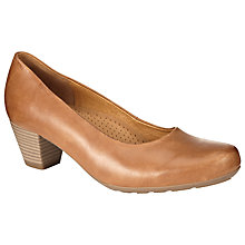 Buy Gabor Brambling Leather Court Shoes, Tan Online at johnlewis.com