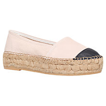 Buy KG by Kurt Geiger Mellow Platform Leather Espadrilles, Nude Online at johnlewis.com